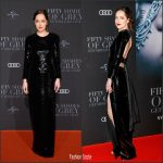 """Dakota Johnson  In Saint Laurent –  """" Fifty Shades Darker"""" German Premiere"""