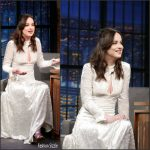 Dakota Johnson In Sonia Rykiel At Late Night With  Seth Meyers