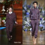 Drew Barrymore In Vanessa Seward At The Ellen DeGeneres Show