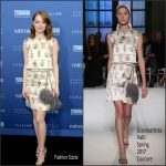 "Emma Stone  In Giambattista Valli  – Vanity Fair & Barneys Dinner For ""La La Land"""