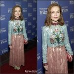 Isabelle Huppert In Gucci –    Santa Barbara International Film Festival 2017 Montecito Award