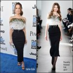 Kate Beckinsale In Pamella Roland –  2017 Film Independent Spirit Awards