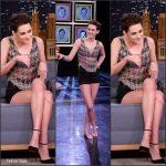 "Kristen Stewart In Natalia Fedner  At ""Tonight Show"" Starring  Jimmy Fallon"