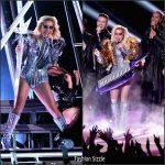 Lady Gaga In Versace Performing at Superbowl 2017