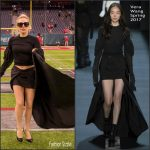 Lady Gaga  in   Vera Wang –  Super Bowl LI Pre-Show Game
