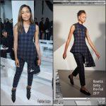 Naomie Harris  In Rosetta Getty – Calvin Klein Fall 2017  NYFW Fashion Show