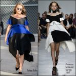 Natalie Portman In Proenza Schouler  At  Jimmy Kimmel Live