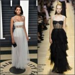 Nina Dobrev  In Christian Dior  –  2017 Vanity Fair Oscar Party