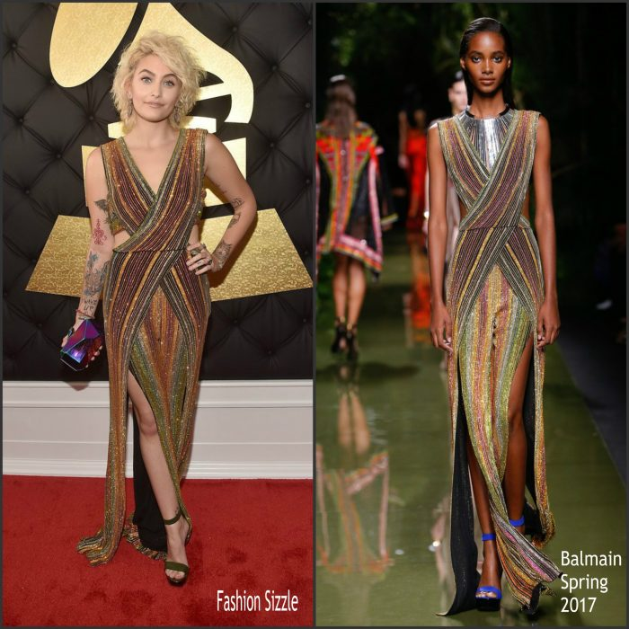 paris-jackson-in-balmain-2017-grammy-awards-700×700