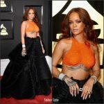 Rihanna  In Armani Privé – 2017 Grammy Awards