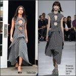 Selena Gomez  In Proenza Schouler – 0ut In New York