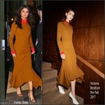 Selena Gomez  In Victoria Beckham –  New York City