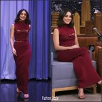 Vanessa Hudgens In Ronny Kobo  AT The Tonight Show Starring Jimmy Fallon