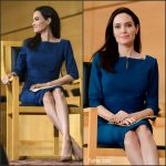 Angelina Jolie In Roland Mouret – Sergio Vieira de Mello Foundation Annual Lecture In Geneva