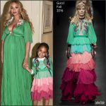 Beyonce Knowles In Gucci – 'Beauty And The Beast' LA Premiere