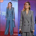 Brie  Larson   In Alexander  McQueen –  'Kong: Skull Island' Press Conference in Beijing