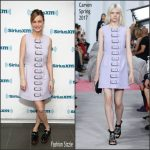 Brie Larson  In Carven –  SIRIUSXM Studios  In New York