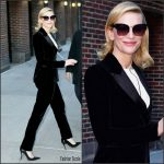 Cate Blanchett In Giorgio Armani – The Late Show with Stephen Colbert