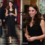 Catherine, Duchess of Cambridge In Alexander McQueen – Reception at the British Embassy In Paris