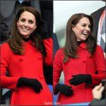 Catherine, Duchess of Cambridge In Carolina Herrera  –  France versus Wales Match In Paris