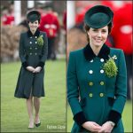 Catherine, Duchess of Cambridge In Catherine Walker At St. Patrick's Day With The Irish Guards In London