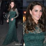 Catherine, Duchess of Cambridge In Temperley London  At 2017 Portrait Gala