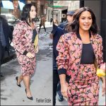 Demi Lovato In Dries van Noten –  Smurfs: The Lost Village Promo Tour