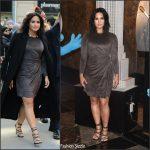 Demi Lovato In Josie Natori –   'Small Smurfs Big Goals' Campaign Event At Empire State Building