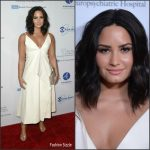 Demi Lovato In  Valentino – 'Smurfs: The Lost Village' Promo Tour