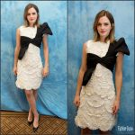Emma Watson  In Oscar de la Renta – Beauty And The Beast  LA Press Conference