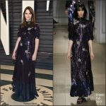 Felicity Jones  In Erdem  – 2017 Vanity Fair Oscar Party