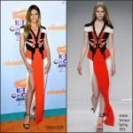 Heidi Klum In Atelier Versace – Nickelodeon's 2017 Kids' Choice Awards