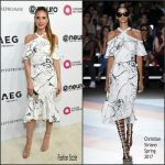 Heidi Klum In Christian Siriano  At Elton John 70th Birthday