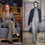 Jennifer Lopez  In  Sophie Theallet –  Tonight Show Starring Jimmy Fallon
