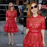Jessica Chastain  In Elie Saab At 'Today Show' In New York
