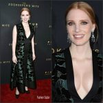 Jessica Chastain In Alexander McQueen  At  'The Zookeeper's Wife' LA Premiere