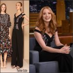 Jessica Chastain In Peter Pilotto – The Tonight Show Starring Jimmy Fallon