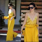Kendall Jenner In Gucci –  Out  in Thousand Oaks In  California