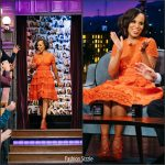 Kerry Washington In Elie Saab – The Late Late Show With James Corden
