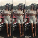 Kourtney Kardashian  In Blumarine – Instagram Pic