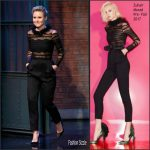 Kristen Bell In Zuhair Murad – Late Night with Seth Meyers
