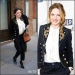 Rebecca Ferguson In  Roberto Cavalli -Build Series at Build Studio