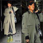 Rihanna  In  Ulyana Sergeenko –  Out In New York