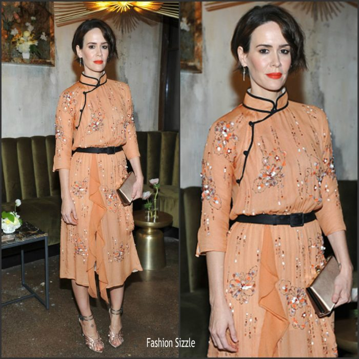 sarah-paulson-in-prada-hollywood-reporter-jimmy-choo-power-stylists-dinner-in-la-700×700
