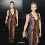 Scarlett Johansson In Balmain  At 'Ghost In The Shell' New York Premiere