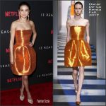 Selena Gomez In Oscar de la Renta  At Netflix '13 Reasons Why' LA Premiere