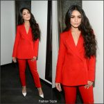 Vanessa Hudgens  In Red Suit – At Good Day New York Fox 5 in NY