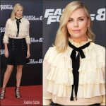 Charlize Theron In Gucci  At 'Fast & Furious 8' Madrid Photocall