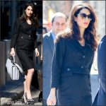 Amal Clooney in Vintage Dior –  International Womens Day at the United Nations