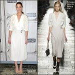 Amanda Peet In Bottega Veneta – Build Series Discussion: 'Brockmire'